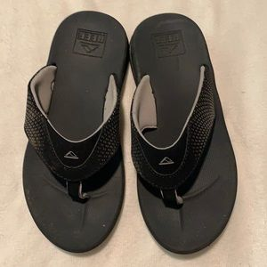Reef boys kids rover flip flop black sandals